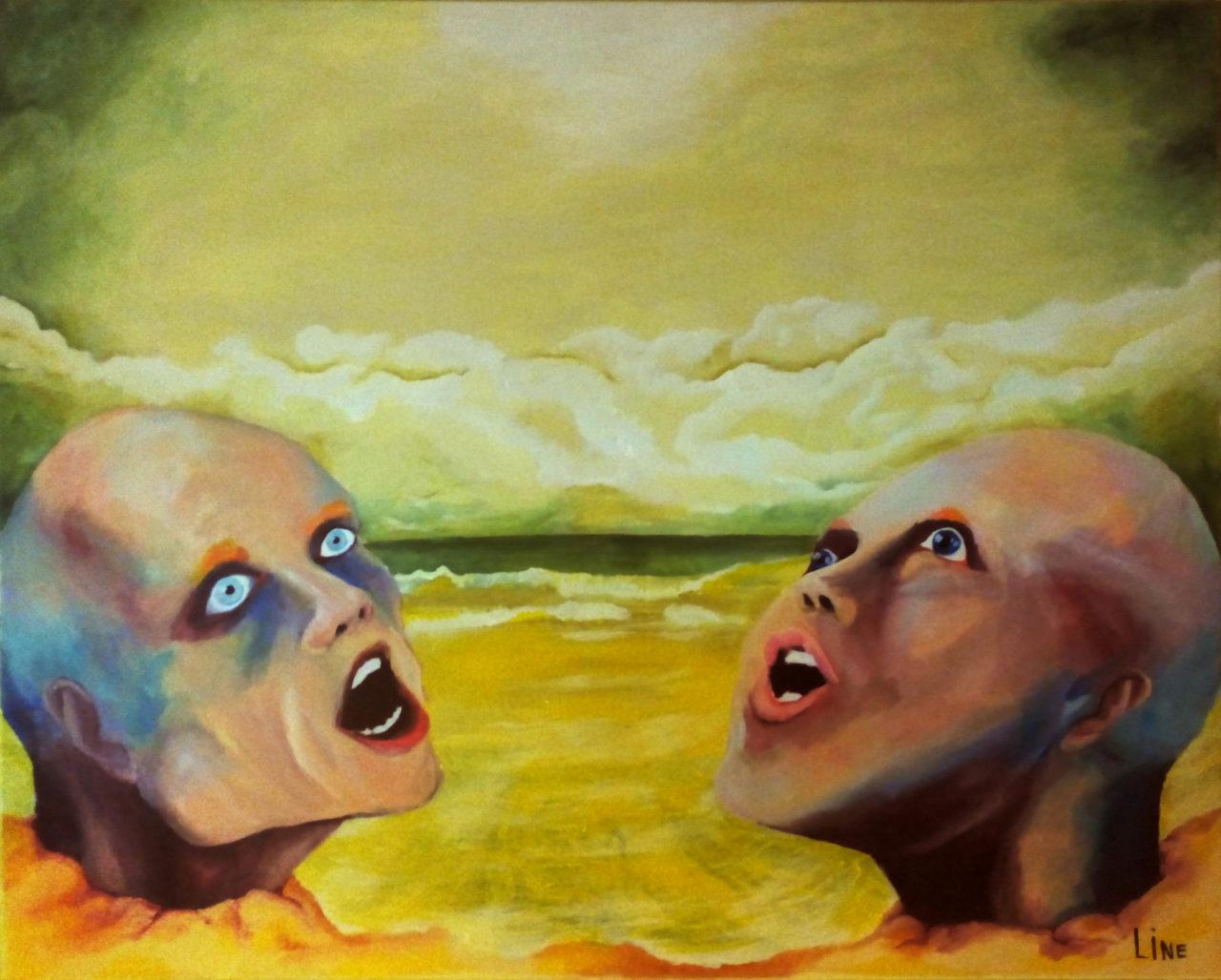 à mort, 2016, acrylique sur toile