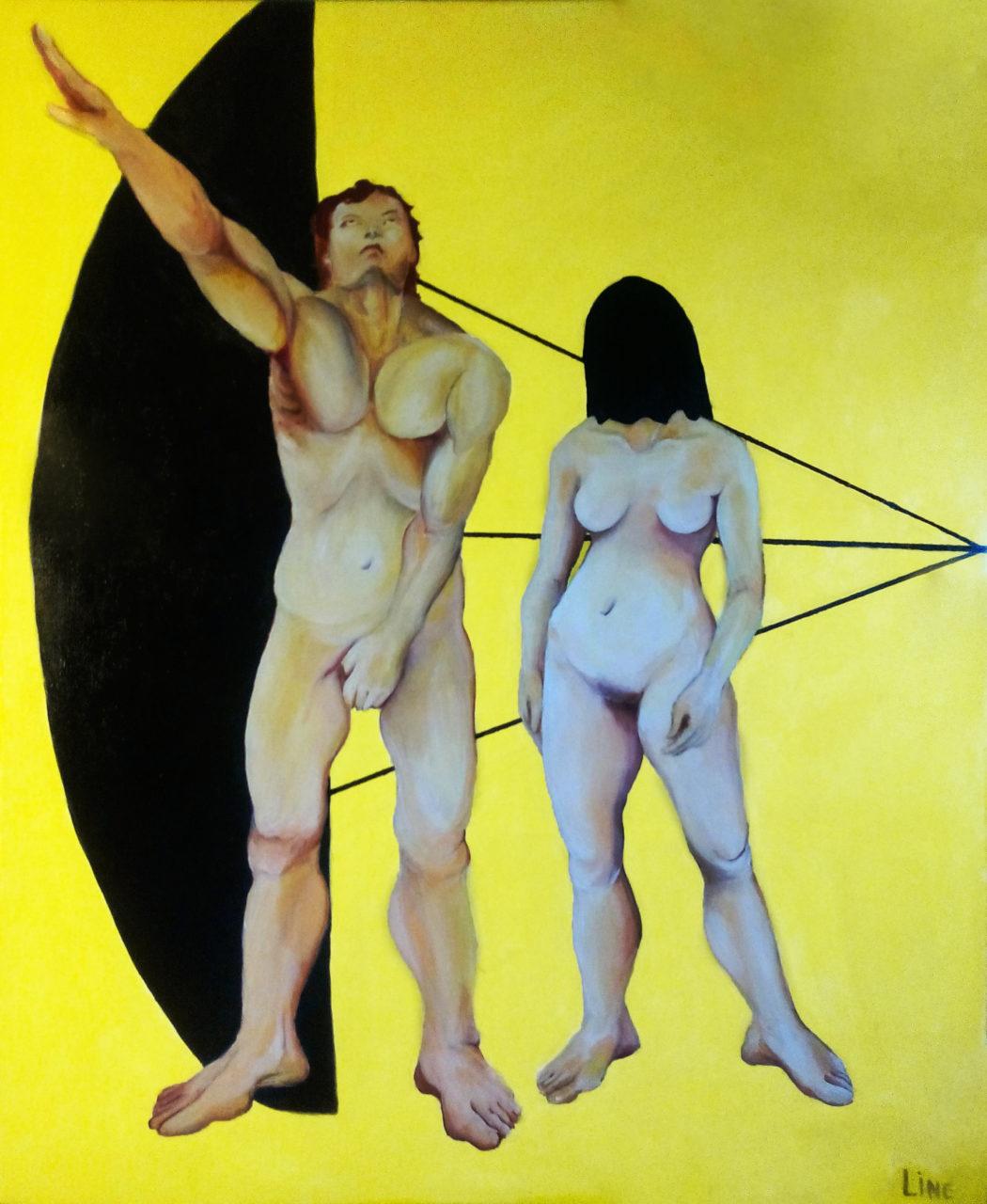 à nus, 2016, acrylique sur toile