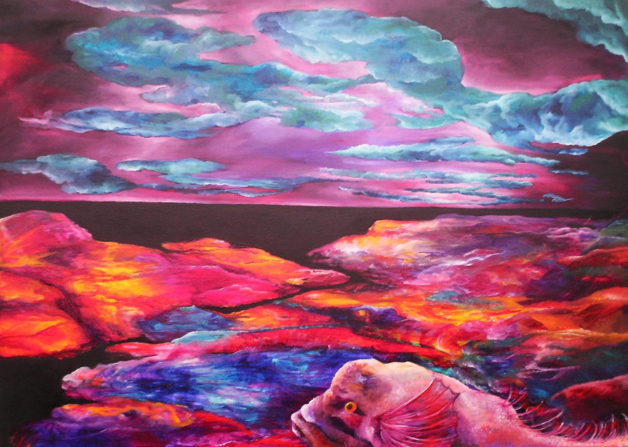 Bord de lune (2), décembre 2012, huile sur toile, 89x116cm