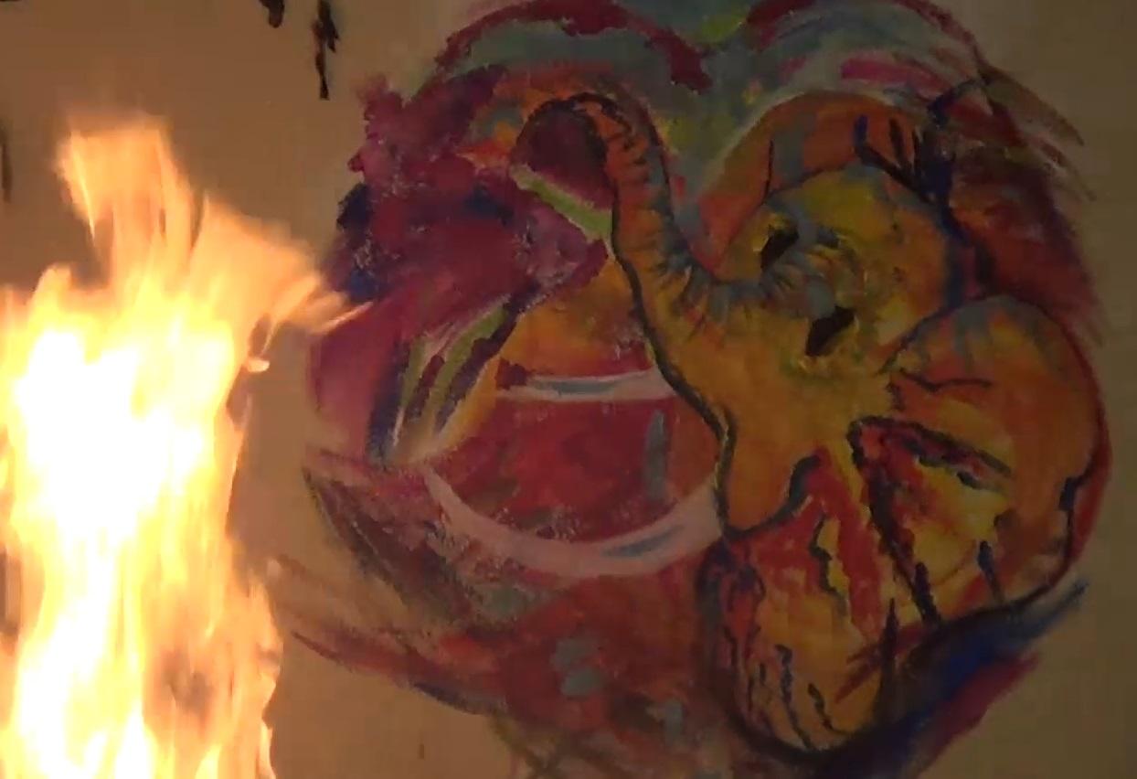 ganesh, 2018, acrylique, fresque