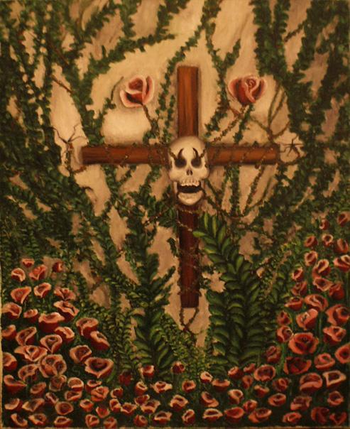 Le rosier, 2007, huile sur toile