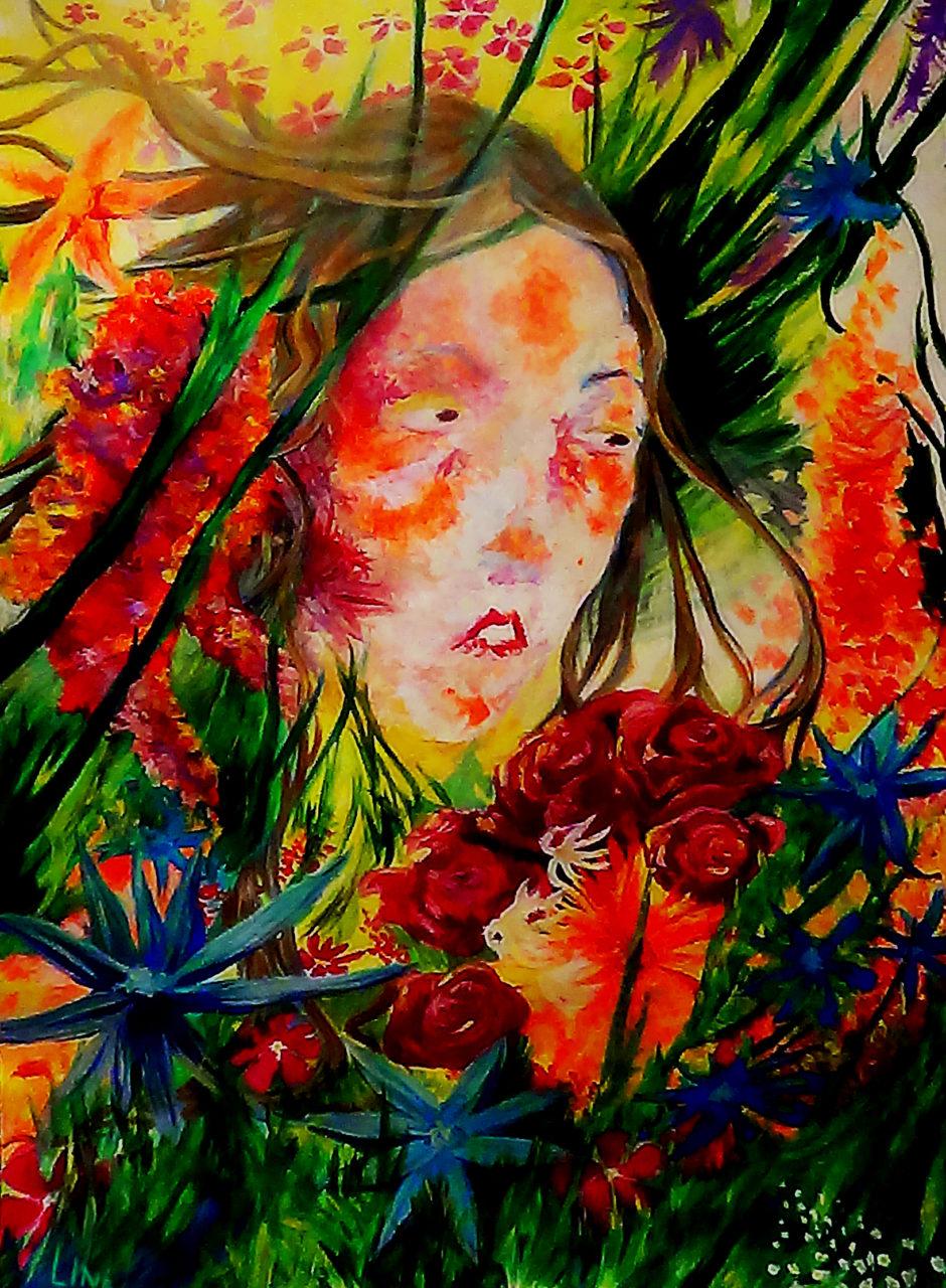 leen autoportrait 1, 2015, acrylique