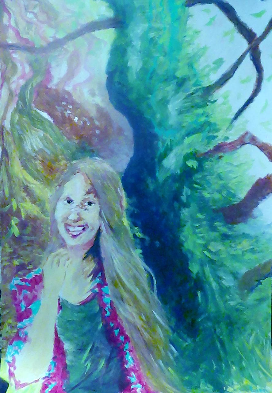 leen autoportrait 2, 2015, acrylique