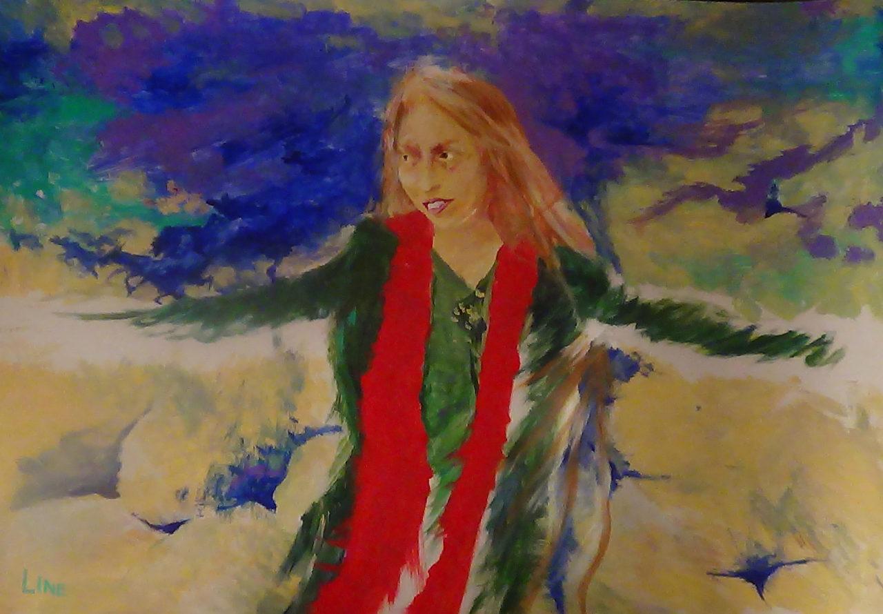 leen autoportrait 3, 2015, acrylique