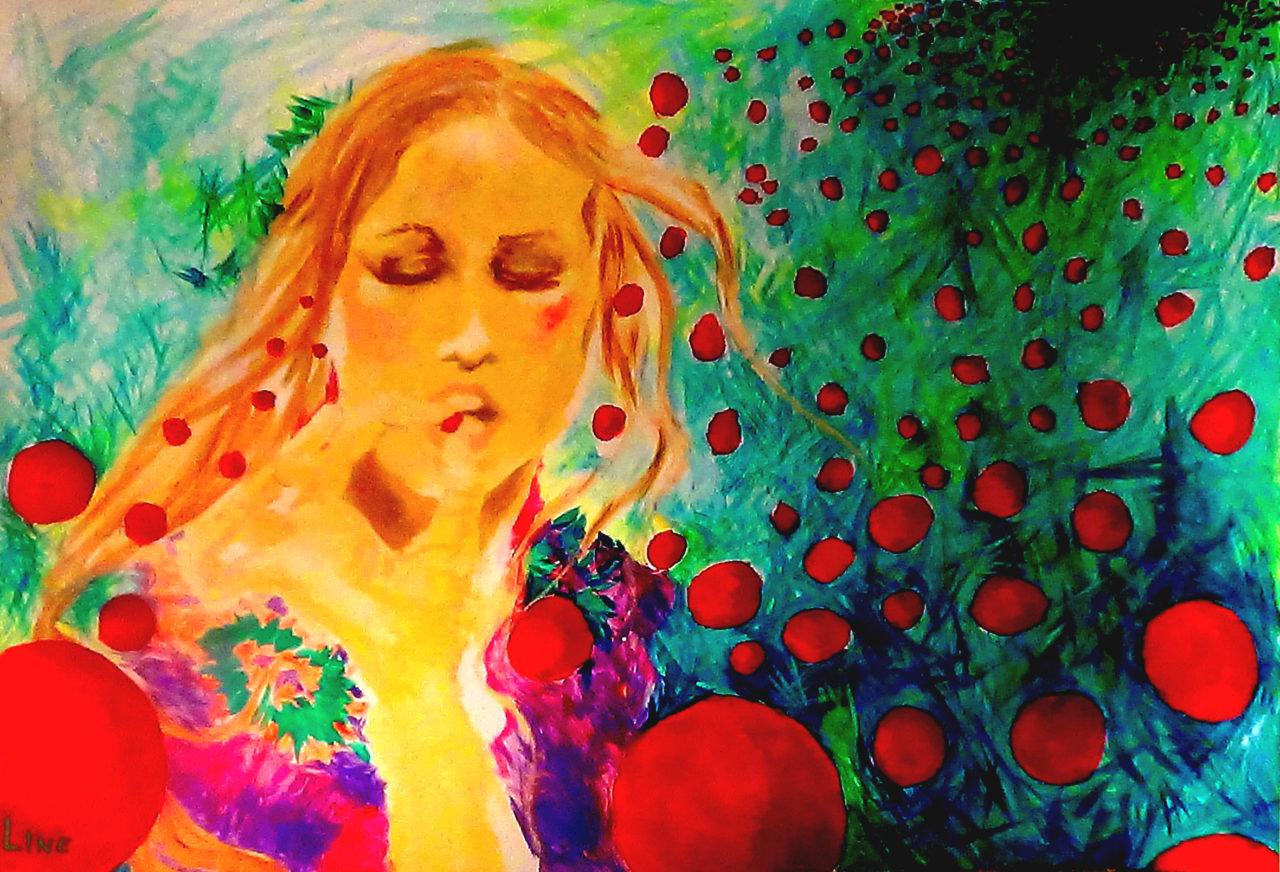 leen autoportrait 4, 2015, acrylique