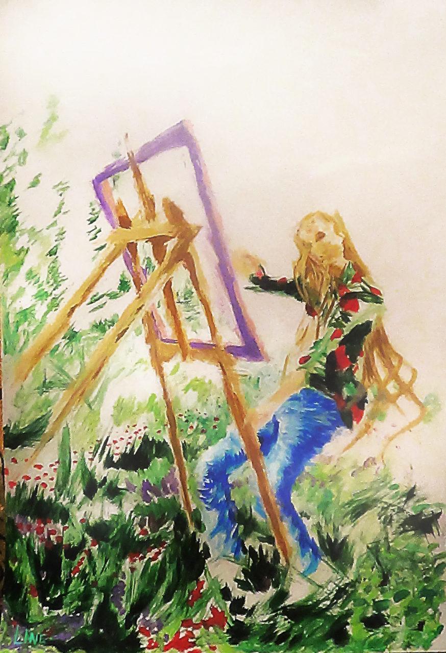 leen autoportrait 7, 2015, acrylique