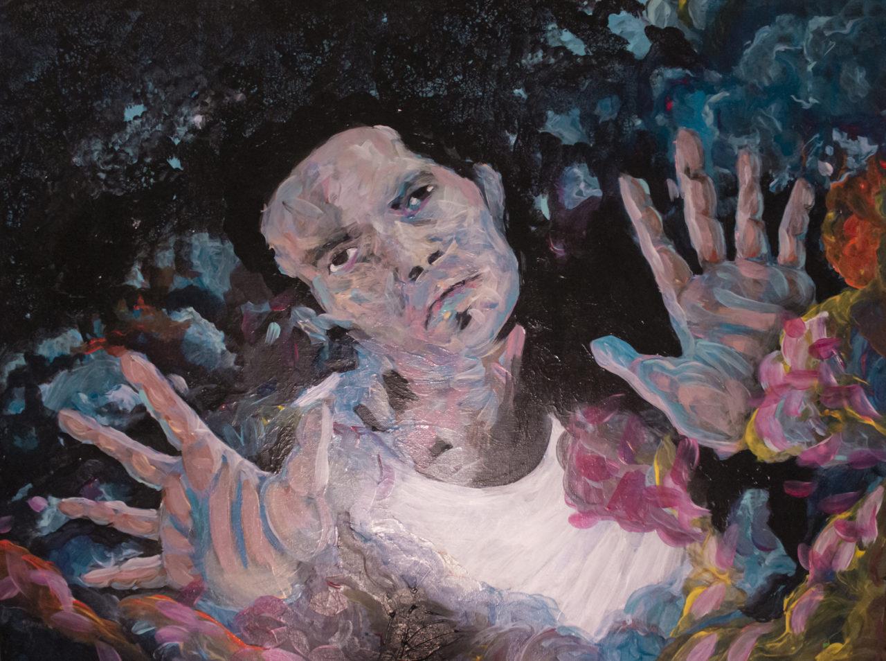 No Man's Land, juin 2019, acrylique sur toile, 60 x 80 cm