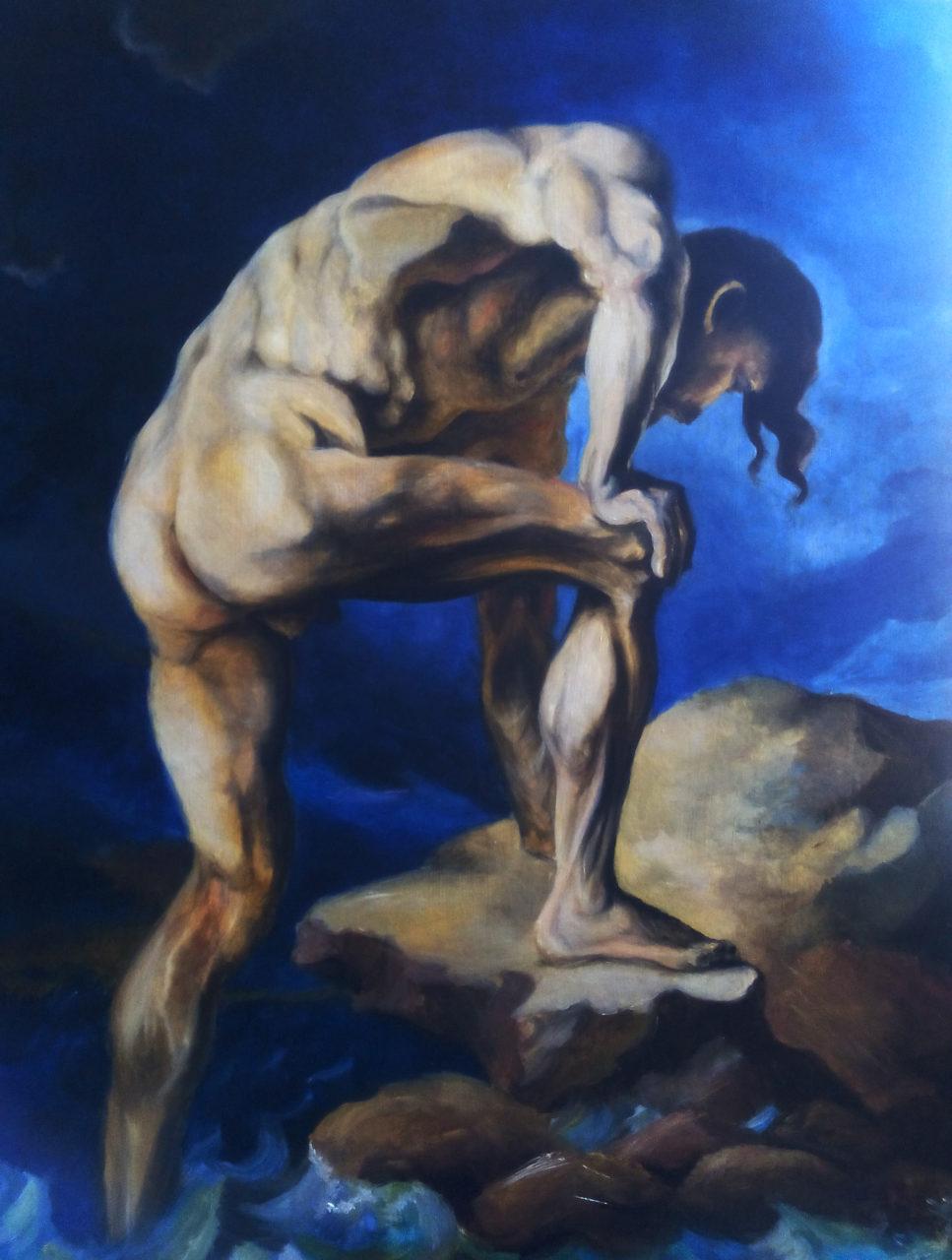 Copie d'une des études de Theodore Gericault , 2016, huile sur bois, 72,7 x 92 cm,